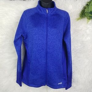Royal Purple/Blue Fitted Zip Jacket